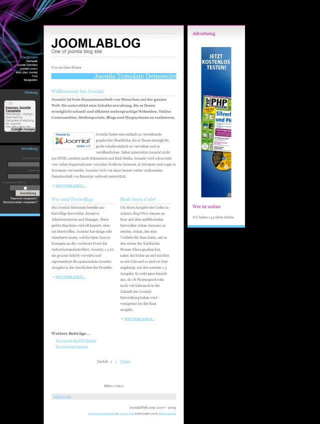 Joomla <br />Black Blog Template