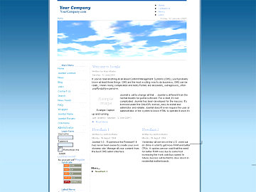 Бесплатно Скачать Joomla шаблон blue clouds